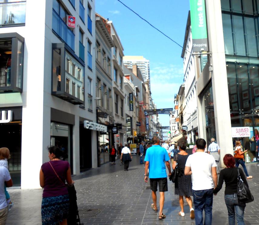 Fußgängerzone in Ostende