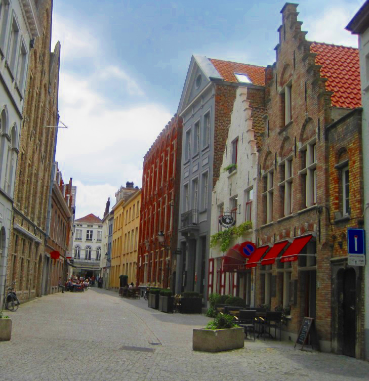 Schmale Gassen in Belgien