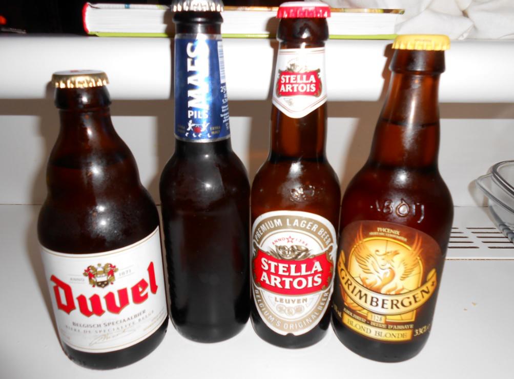 Auswahl belgischer Biere