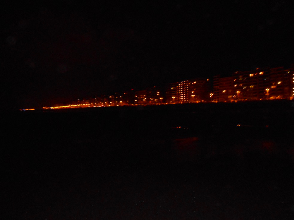Blankenberge Strand bei Nacht