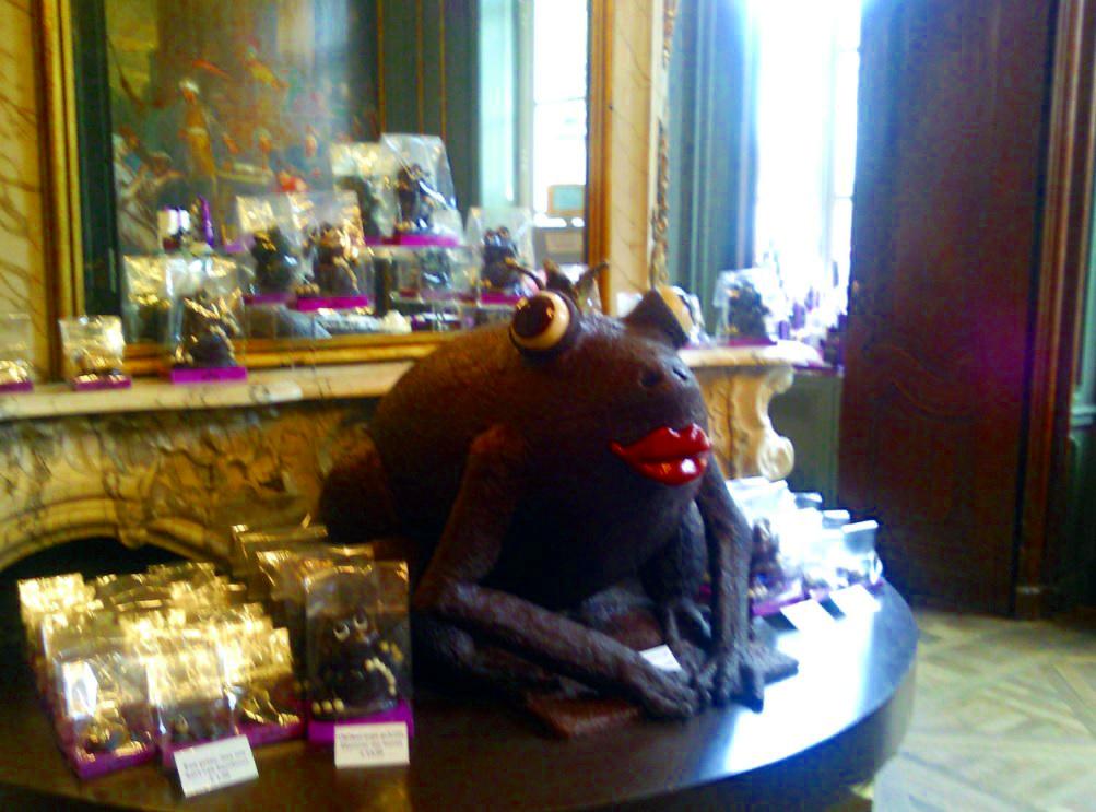 Frosch aus Schokolade in Antwerpen