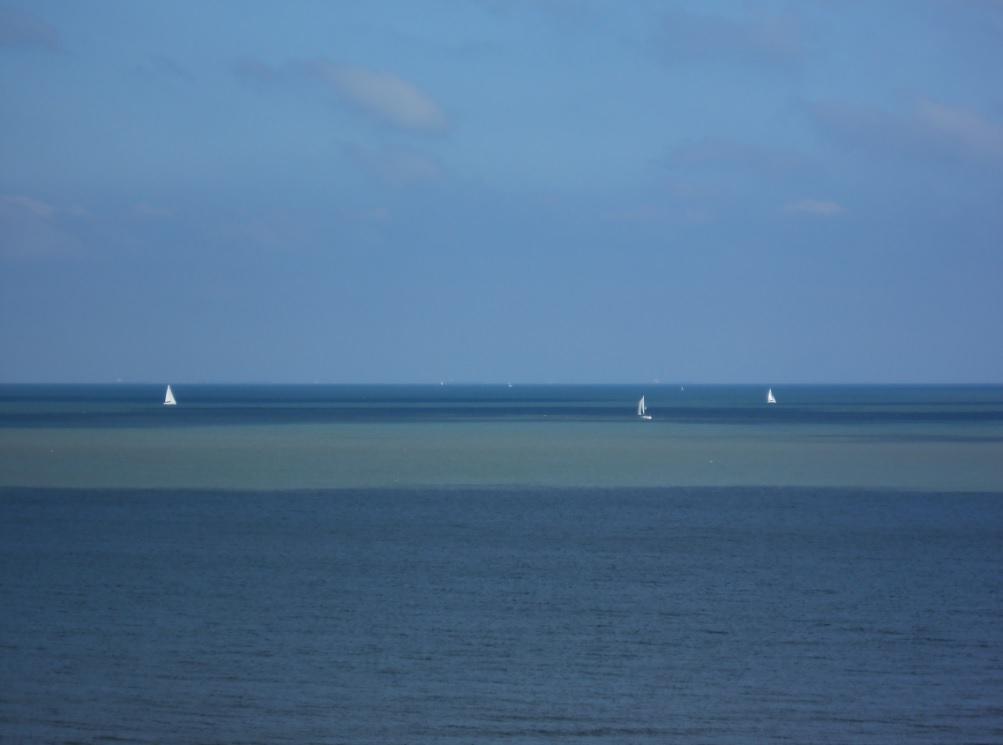 Segeln an der Nordsee bei Zeebrügge