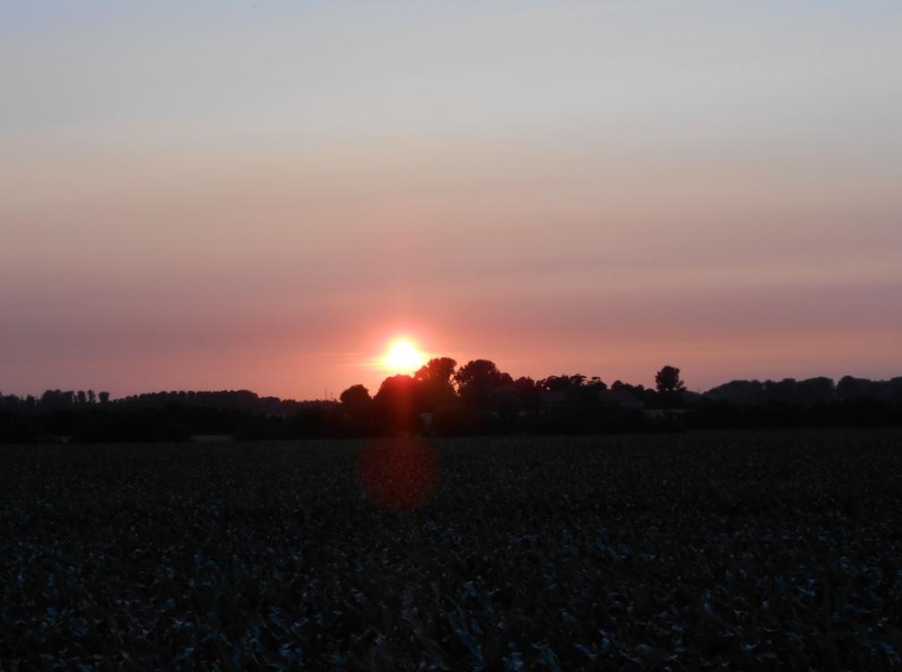 Sonnenuntergang in der Wallonie