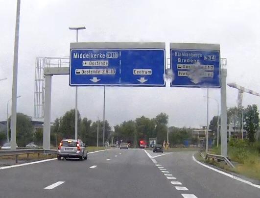 Autobahn E 40 nach Ostende