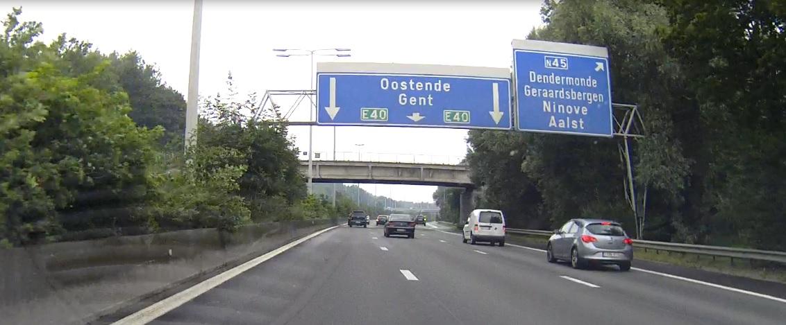 Autobahn E40 in Belgien
