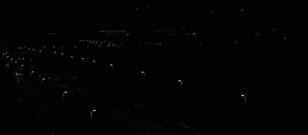 Autobahnbeleuchtung in Belgien aus der Luft