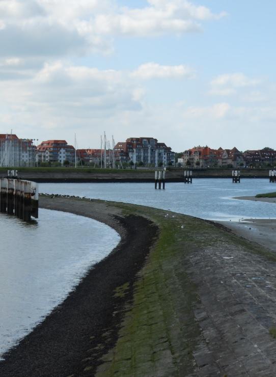 Blick auf Nieuwpoort