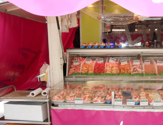 Fischmarkt in Belgien