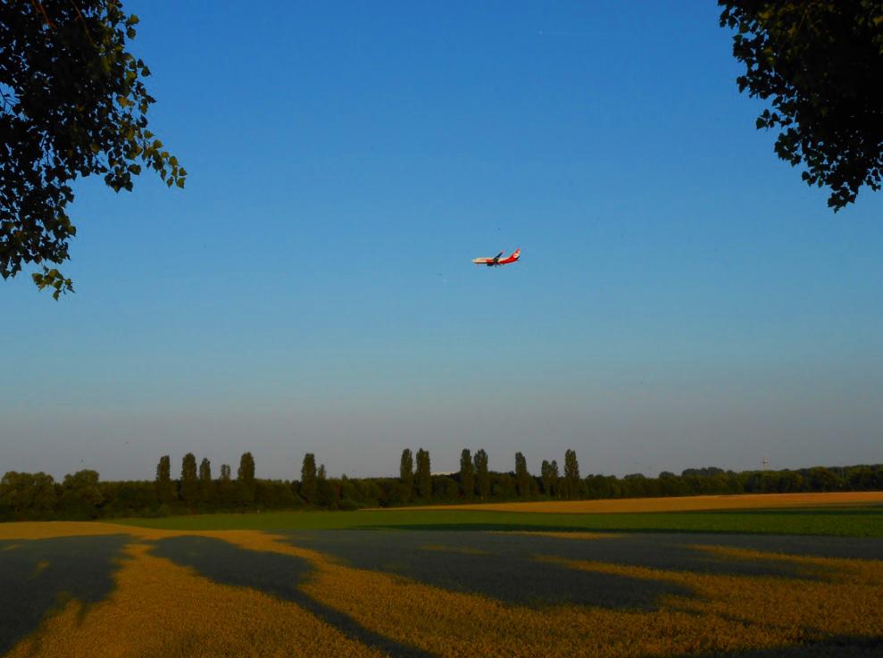 Flugzeug in Belgien