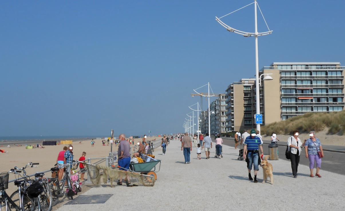 Koksijde Sandstrand an der Küste