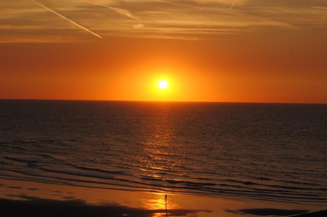 Sonnenuntergang am Strand von Middelkerke