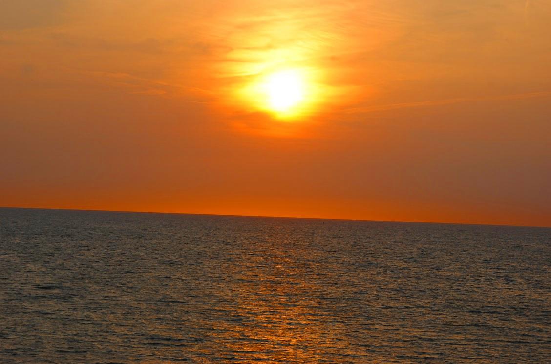 Sonnenuntergang belgische Nordsee