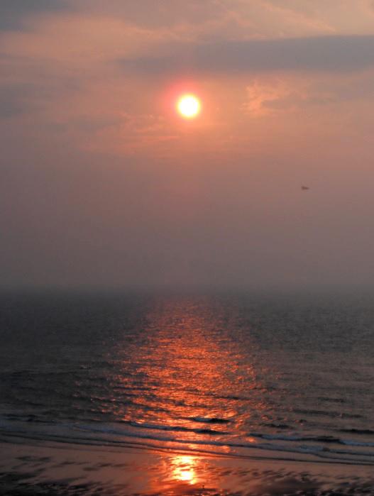 Sonnenuntergang in Knokke-Heist