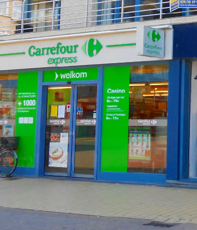 Carrefour Express Supermarkt in Belgien