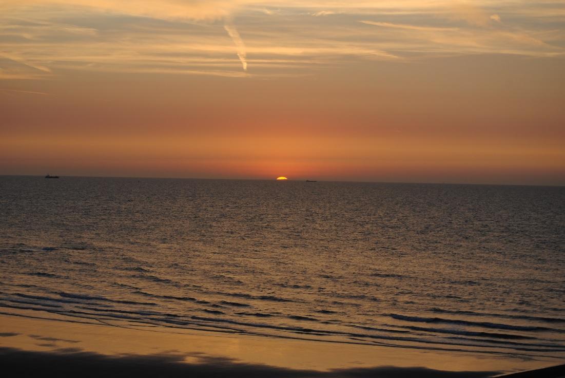 Sonnenuntergang in Middelkerke