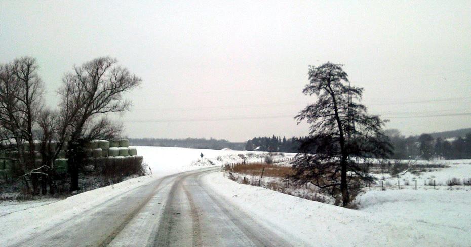 Winterlandschaft in Belgien