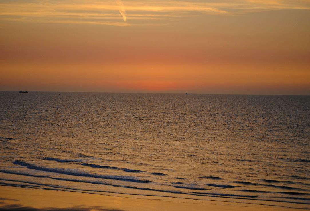 Malerischer Sonnenuntergang in Belgien