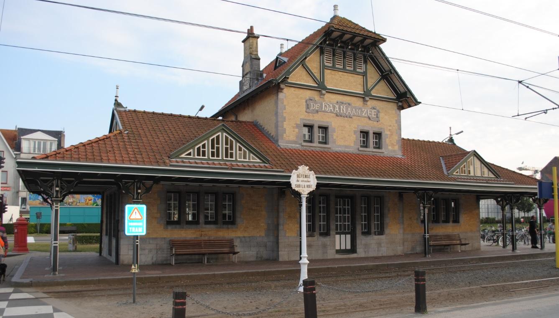 Bahnhof de Haan in Belgien
