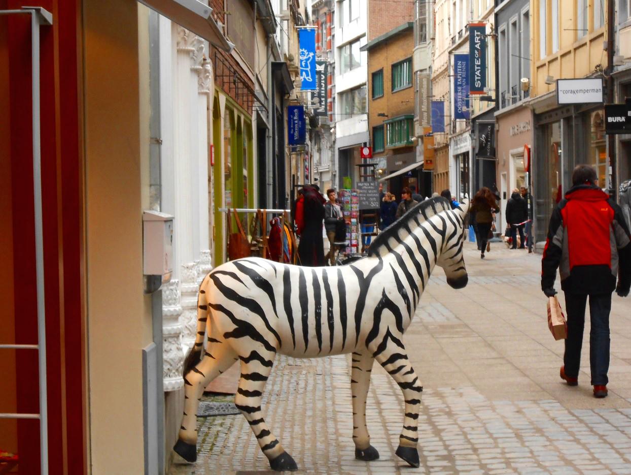 Einkaufsstraße in Gent