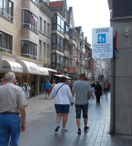 Fußgängerzone Ostende