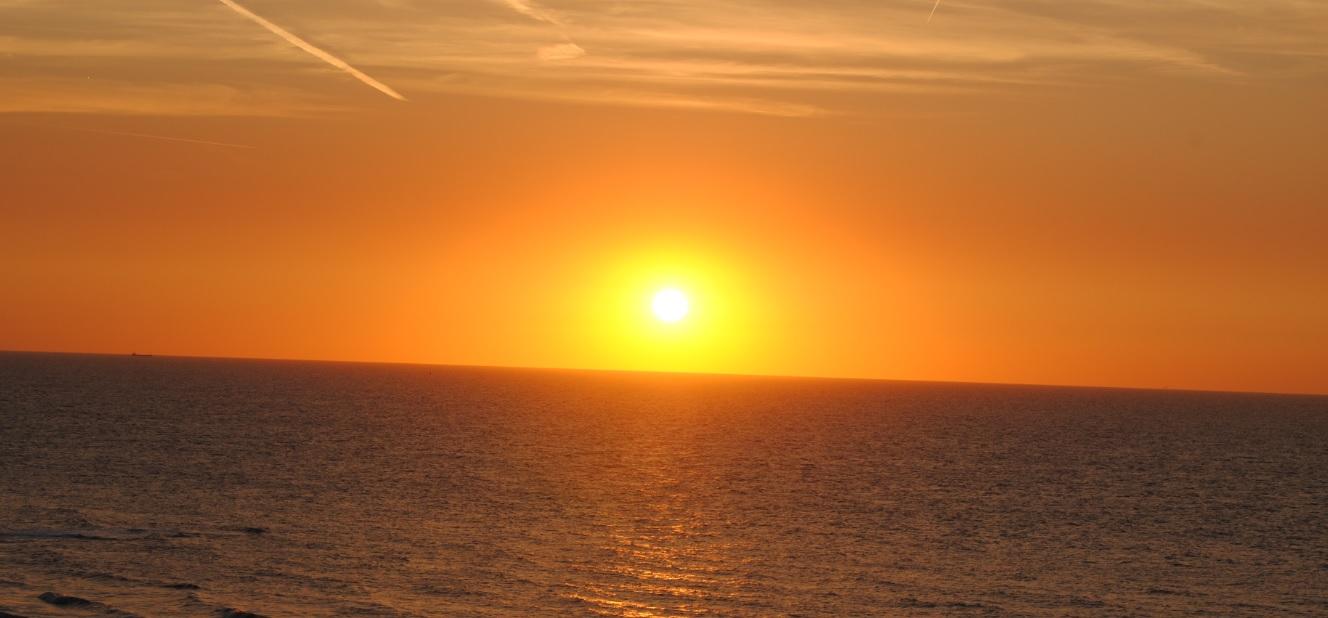 Sonnenuntergang an der belgischen Nordsee