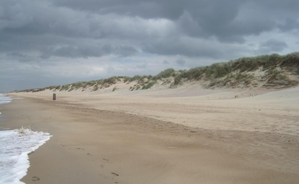 Winter an der belgischen Küste
