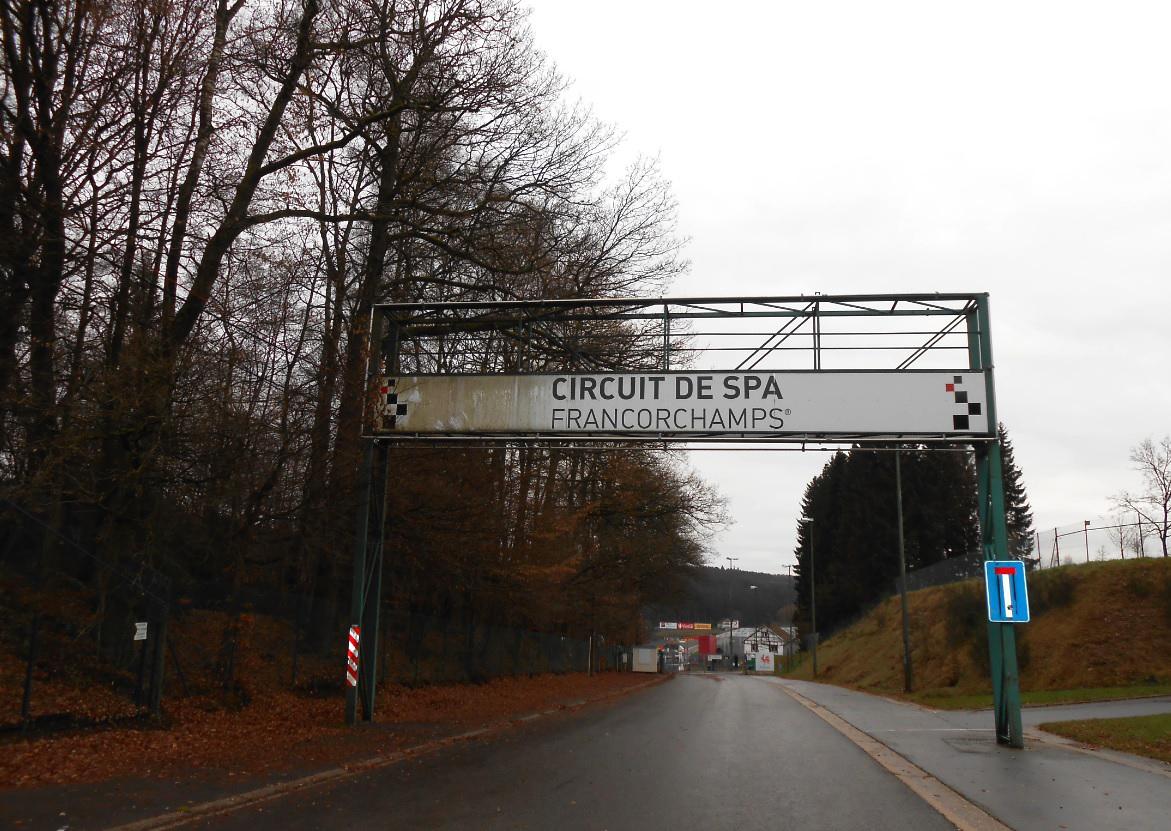 Eingang zum Spa Francorchamps