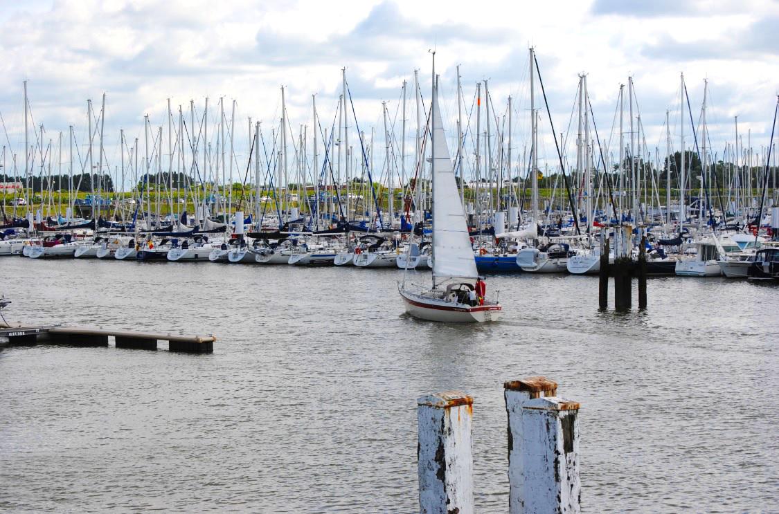 Segelhafen in Nieuwpoort