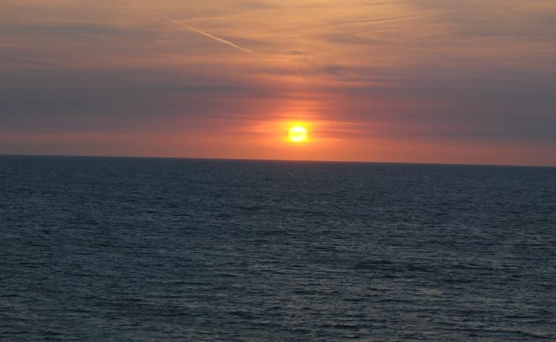 Sonnenuntergang in Belgien
