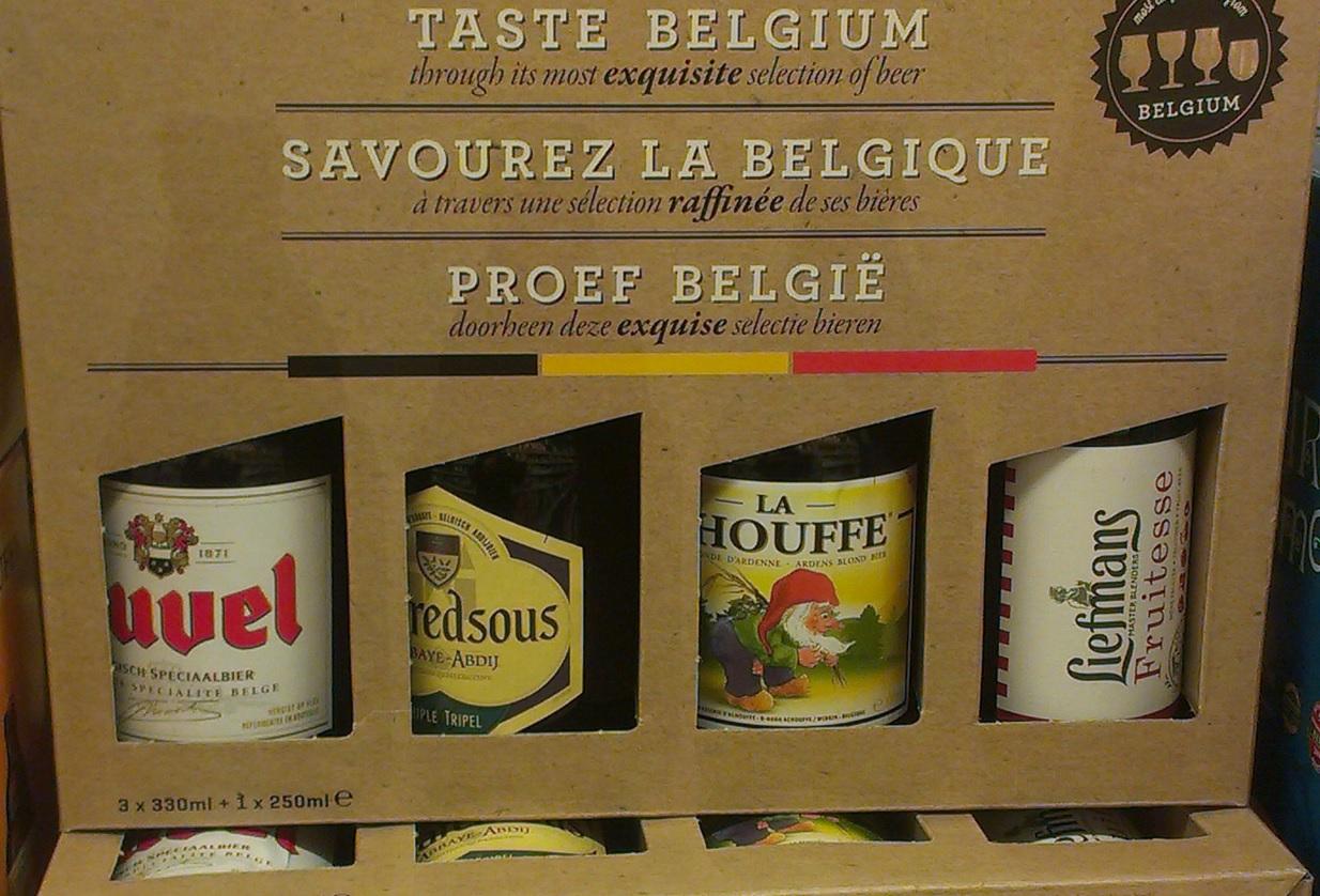 Belgische Bierauswahl
