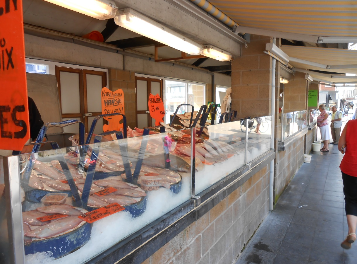 Fischmarkt in Ostende (Belgien)