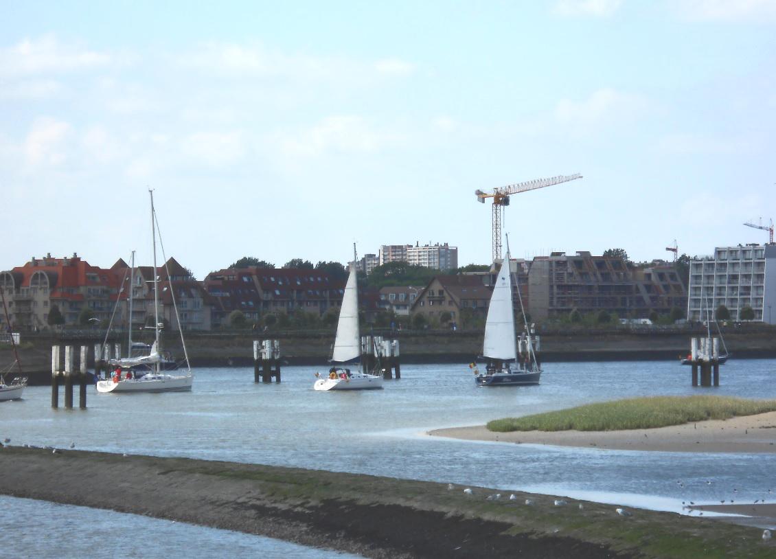 Segelhafen Nieuwpoort in Belgien
