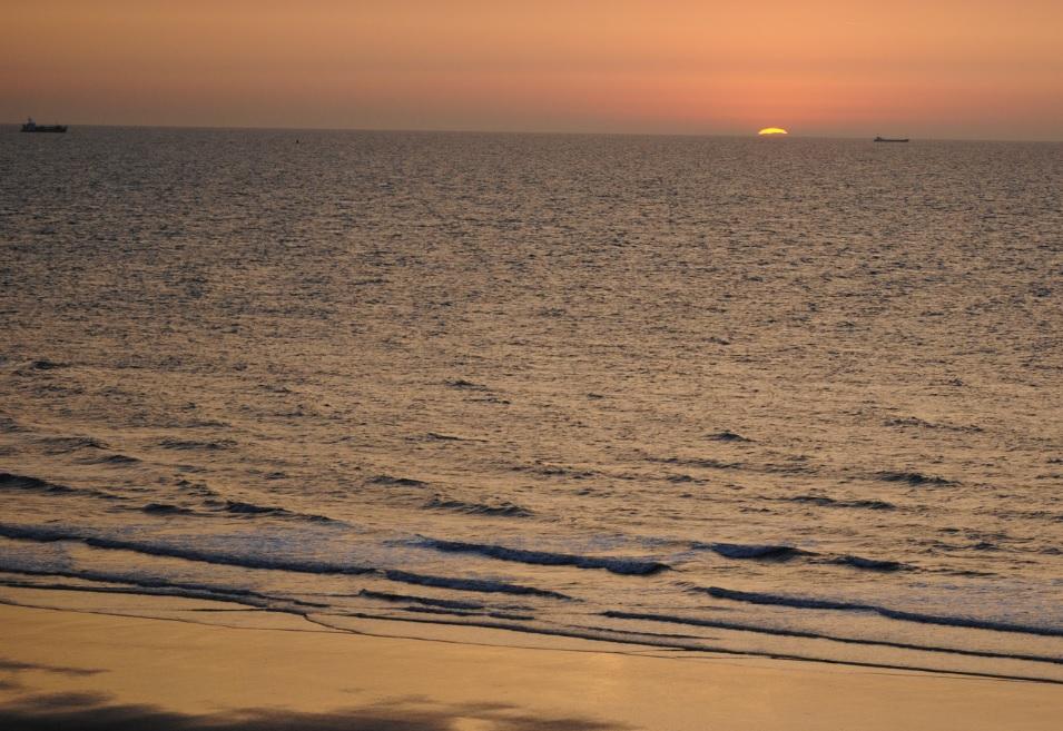 Sonnenuntergang an Belgiens Küste
