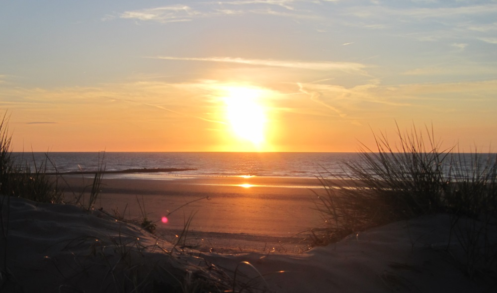 Belgische Küste  Sonnenuntergang