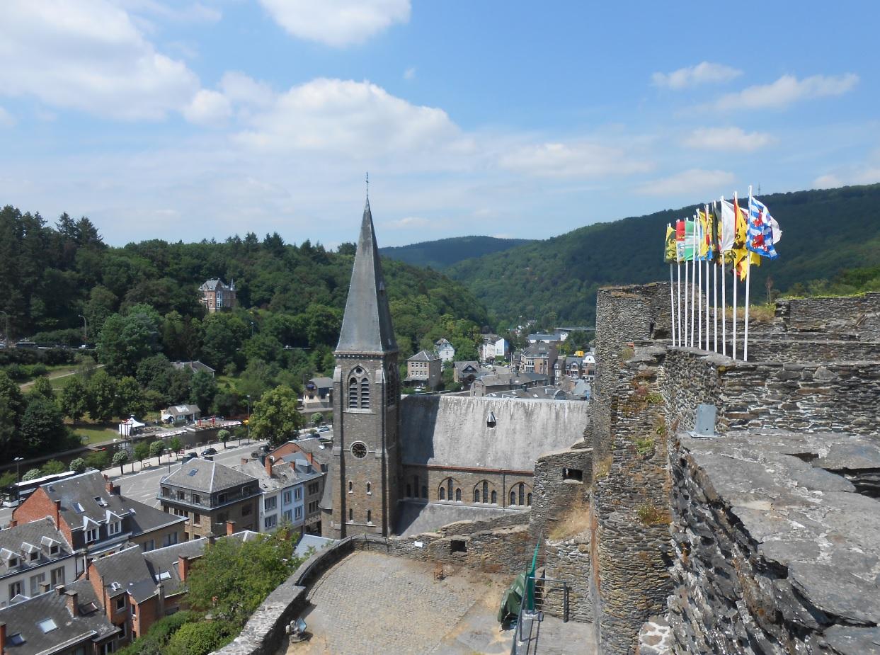 Blick über La Roche en Ardenne