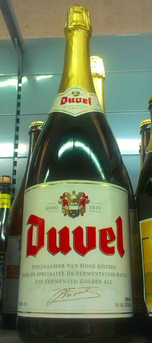 Flasche Duvel Bier