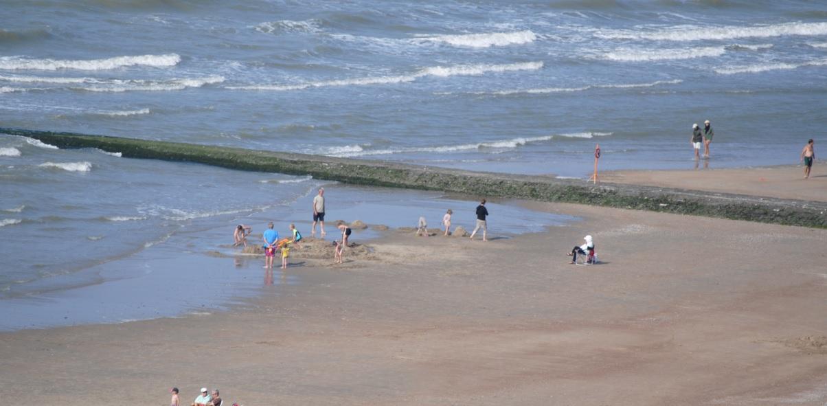 Strand an der belgischen Nordseeküste