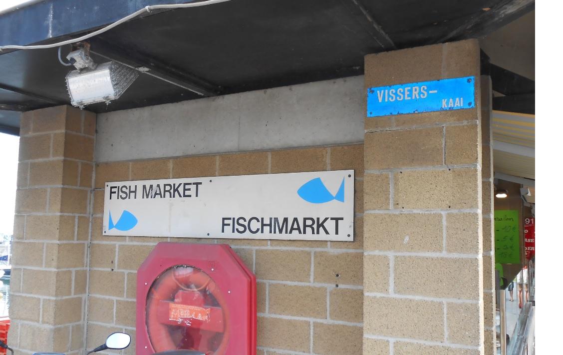 Fischmarkt in Belgien Ostende