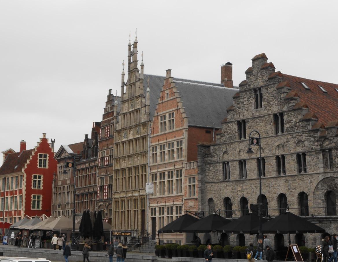 Zentrum von Gent am Tag