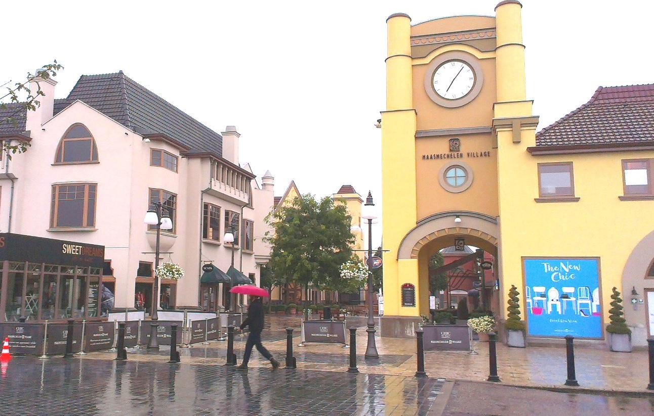 Eingang Maasmechelen Village Belgien