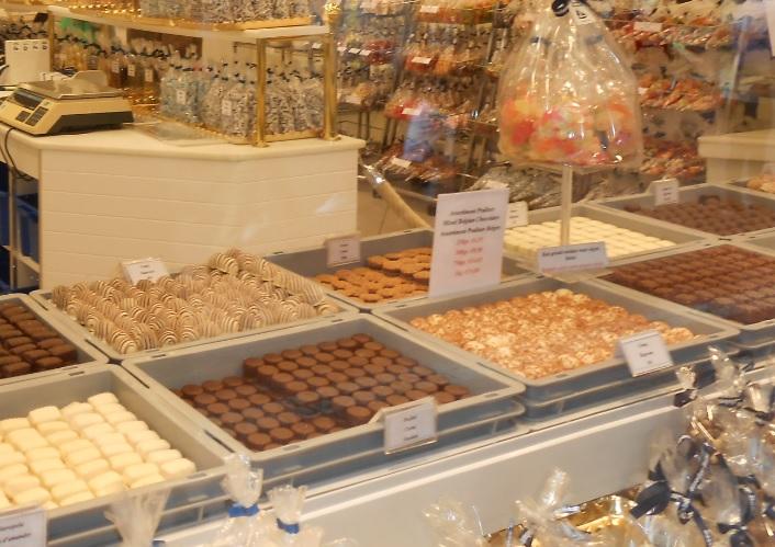 Auswahl belgischer Pralinen
