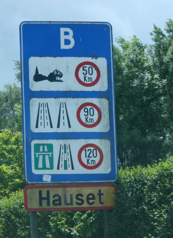 Belgien Tempolimits