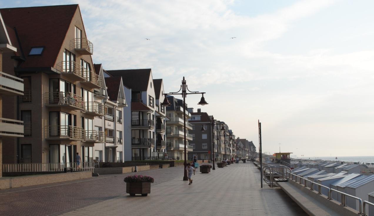 Küste in De Haan in Belgien