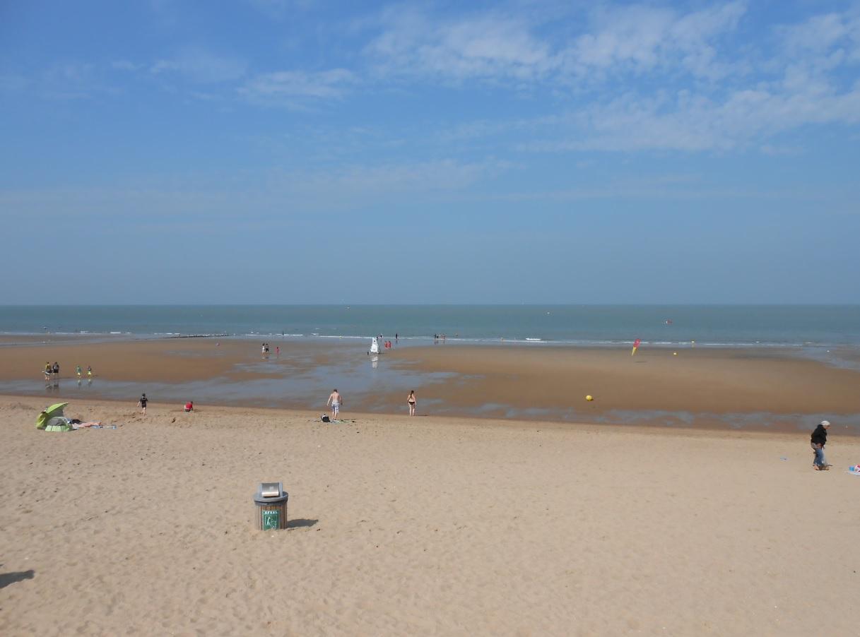 Sandstrand in Belgien Nordsee