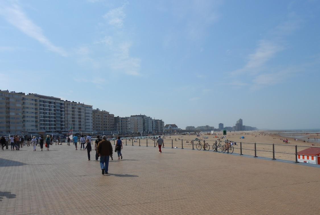 Sandstrand in Oostende
