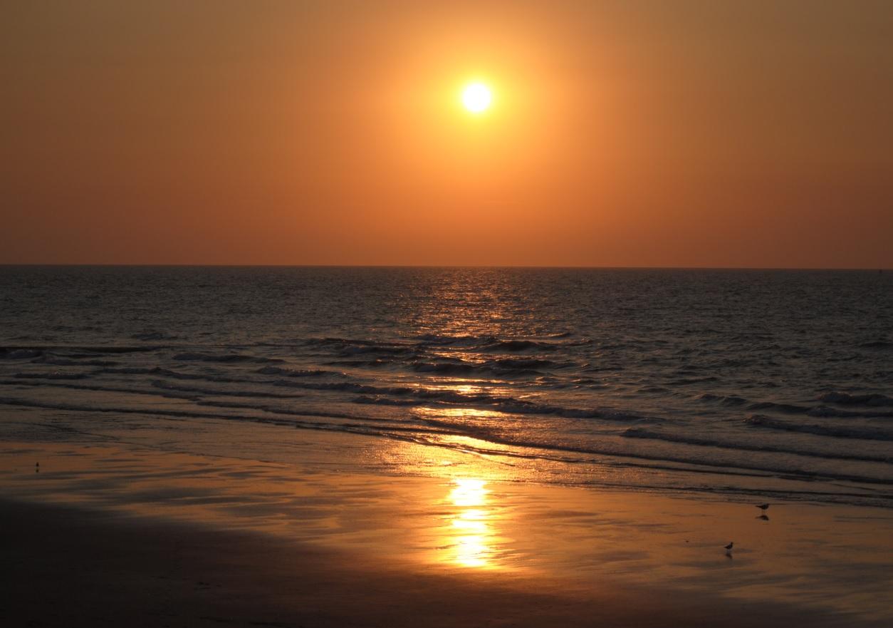 Sonnenuntergang in Belgien 2015