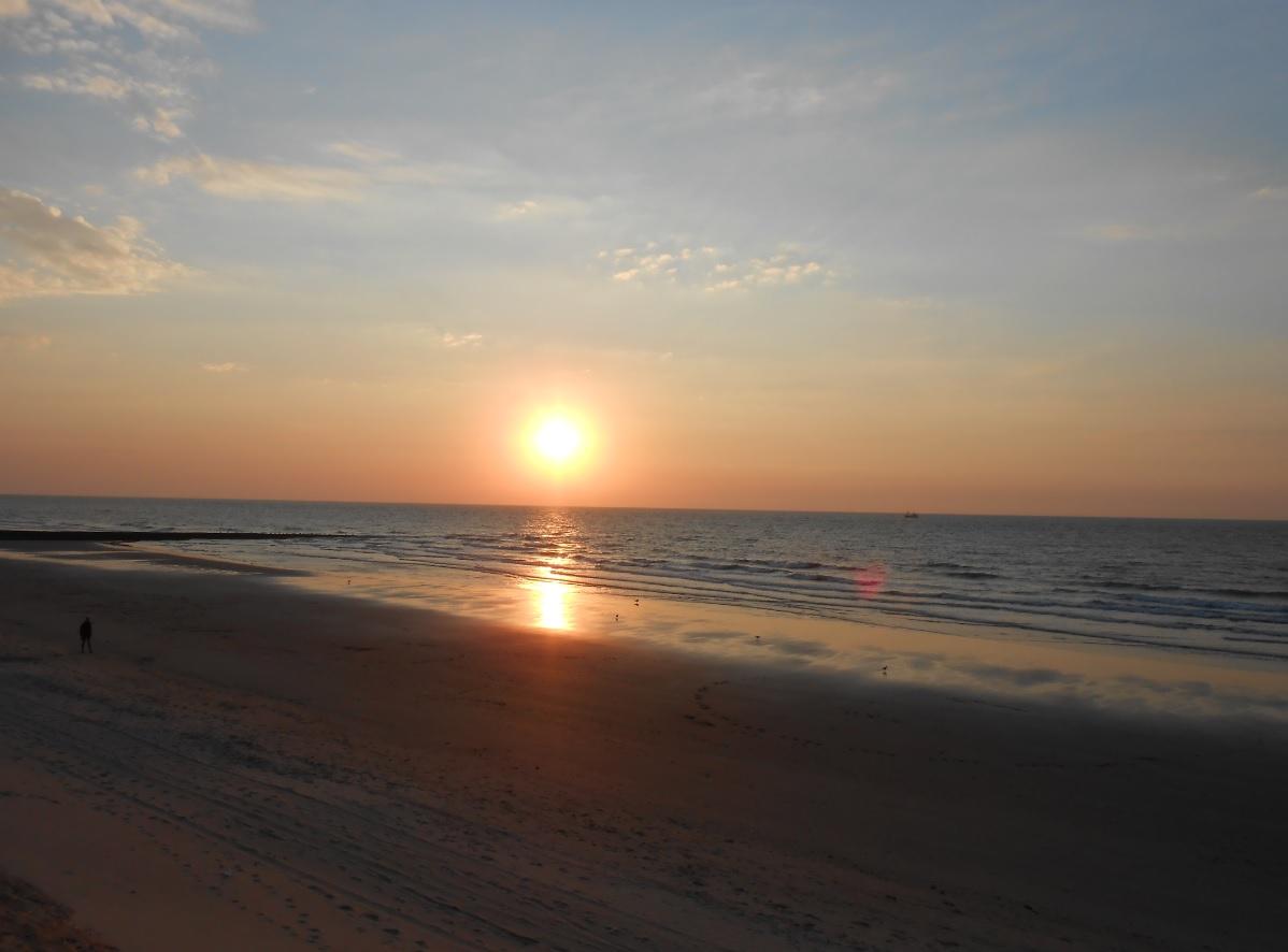 Strand in Belgien Nordsee 2015