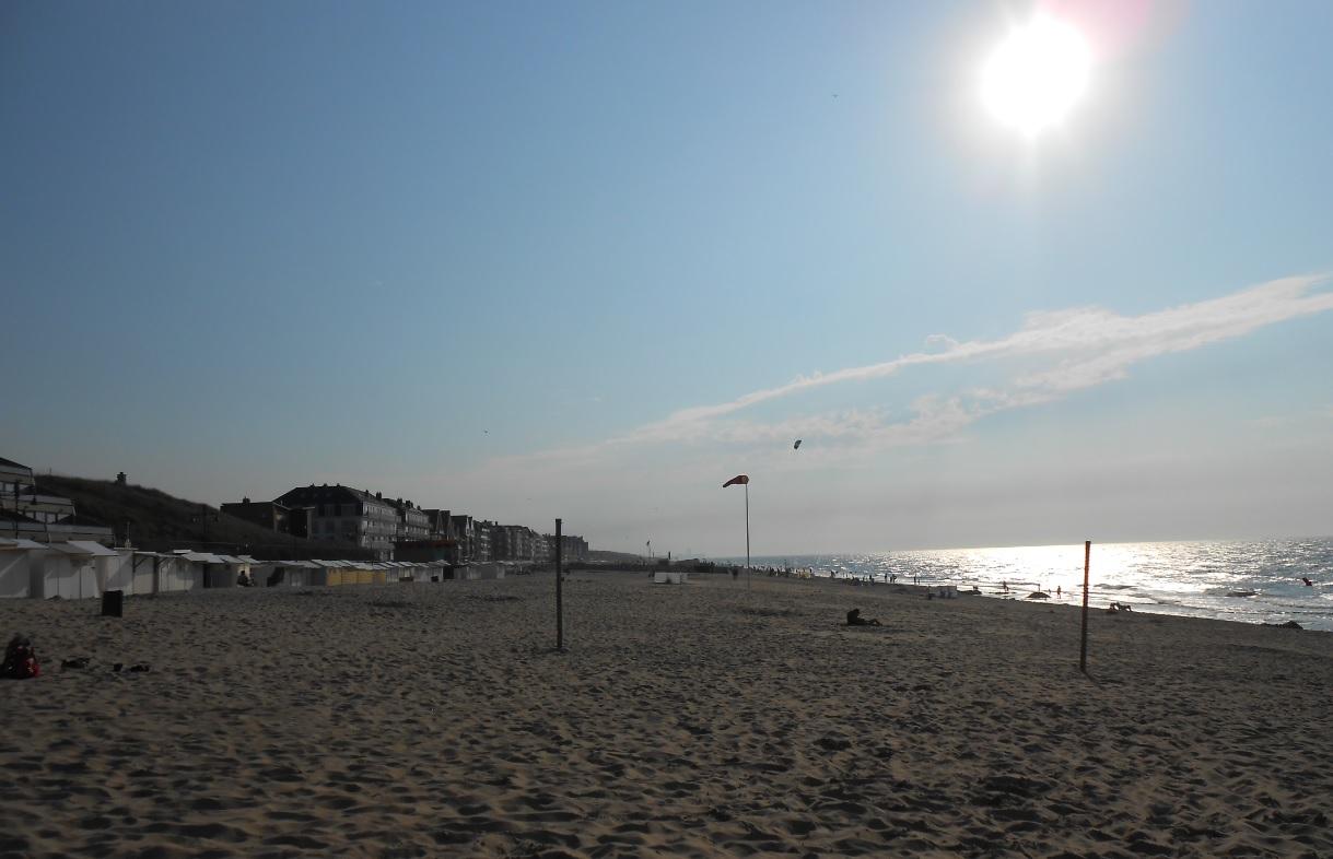 Strand in De Haan in Belgien