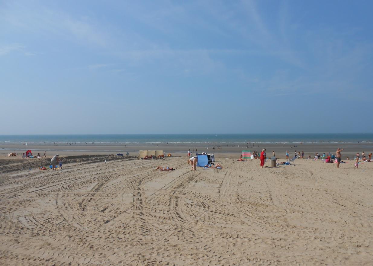 Strand in Koksijde Belgien