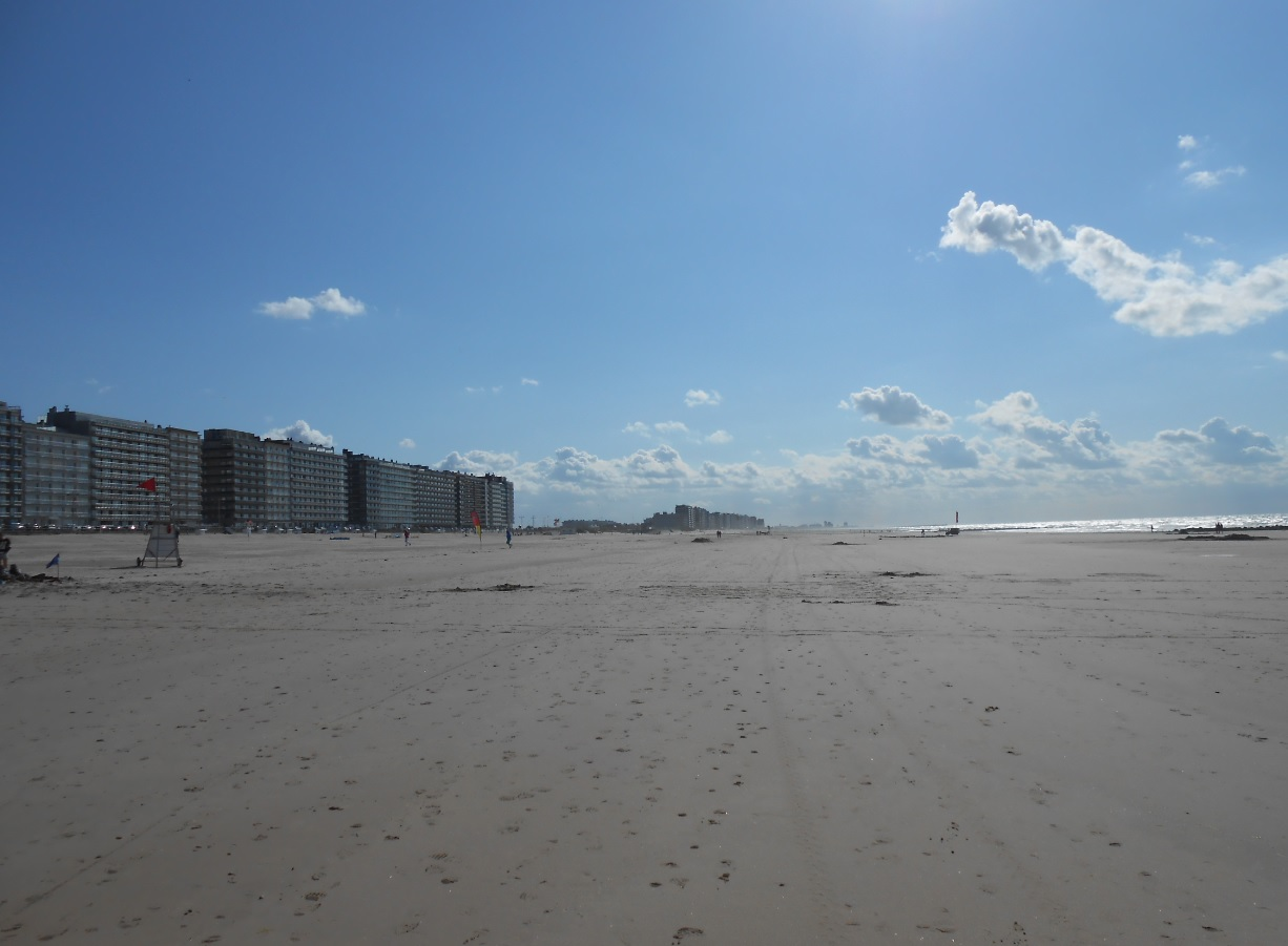 Sandstrand in Belgien